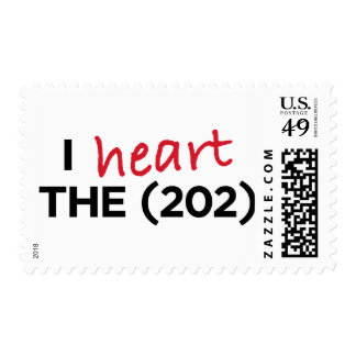 I heart the (202) postage stamp