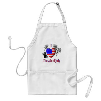 I Heart the 4th of July Adult Apron