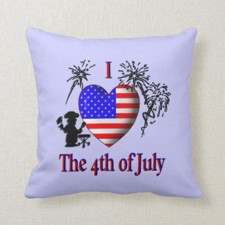 I Heart the 4th of July American Mojo Pillow