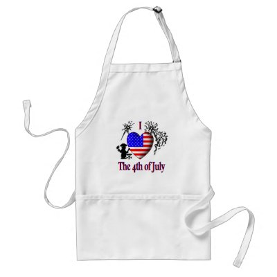 I Heart the 4th of July apron