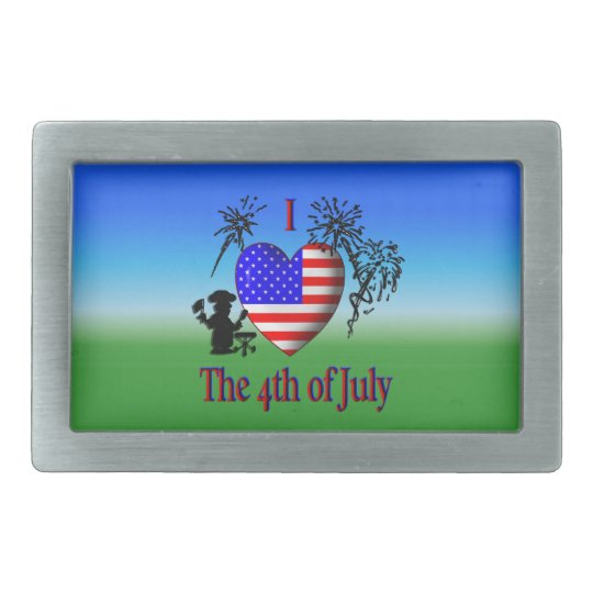 I Heart the 4th of July Belt Buckle