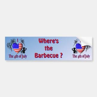 I Heart the 4th of July Car Bumper Sticker