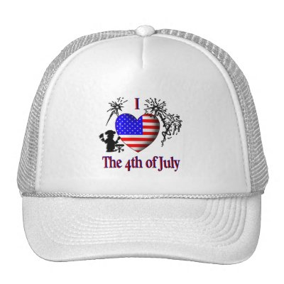 I Heart the 4th of July Hat