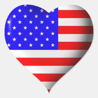 I Heart the 4th of July Heart Sticker