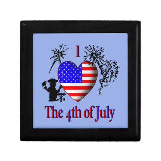 I Heart the 4th of July Jewelry Box