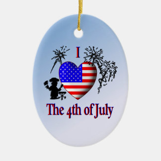 I Heart the 4th of July Ornaments