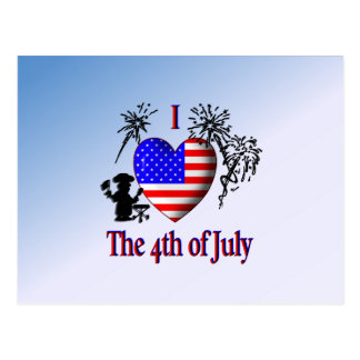 I Heart the 4th of July Postcard