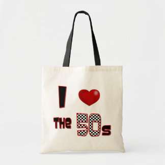 I Heart The 50s Canvas Bags