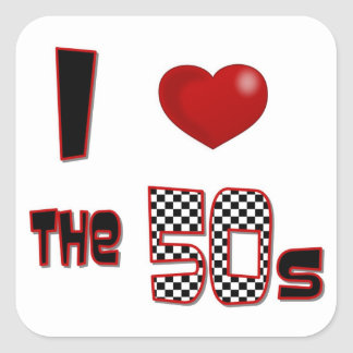 I Heart The 50s Stickers