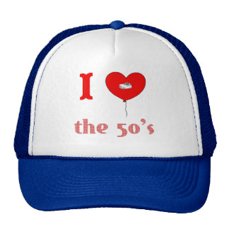 I Heart The 50's Vintage Style Hat