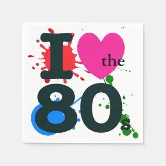 I Heart the 80s Paper Napkin