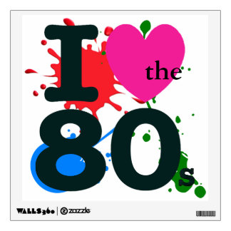 I Heart the 80s Wall Decal