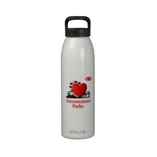 I Heart the Amusement Parks Water Bottle