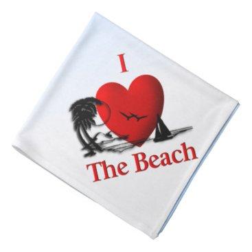 Beach Themed I Heart The Beach Bandana