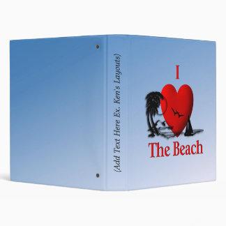 I Heart The Beach 3 Ring Binder