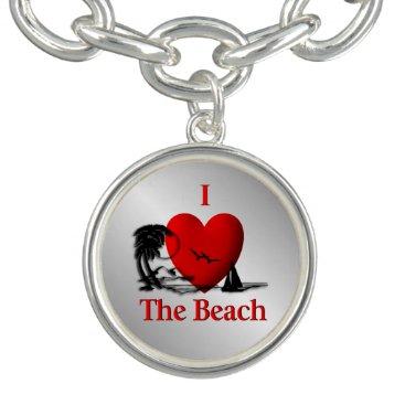 Beach Themed I Heart The Beach Bracelets