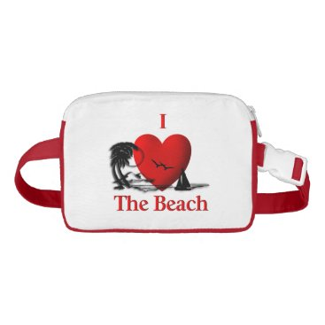 Beach Themed I Heart The Beach Fanny Pack