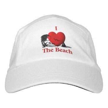 Beach Themed I Heart The Beach Headsweats Hat