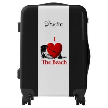 Beach Themed I Heart The Beach Luggage