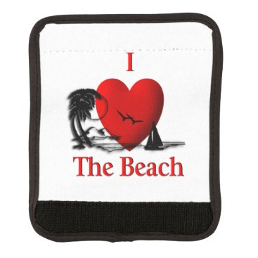 Beach Themed I Heart The Beach Luggage Handle Wrap