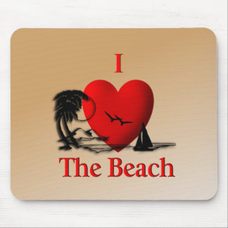 I Heart The Beach Mouse Pad