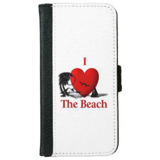 I Heart The Beach iPhone 6 Wallet Case