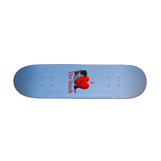 I Heart The Beach Skate Deck