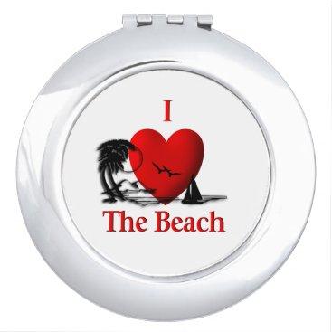 Beach Themed I Heart The Beach Vanity Mirror