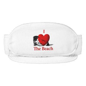 Beach Themed I Heart The Beach Visor