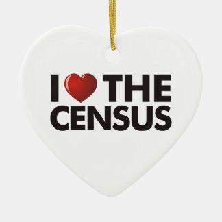 I Heart The Census Ceramic Ornament