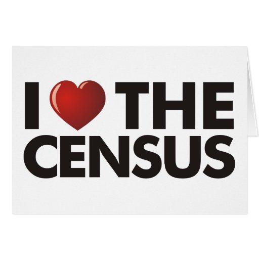 I Heart The Census Greeting Card