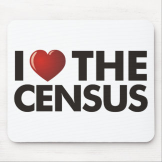 I Heart The Census Mouse Pad
