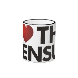 I Heart The Census Coffee Mugs
