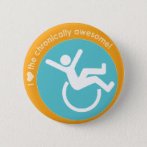 I {heart} the Chronically Awesome Pinback Button