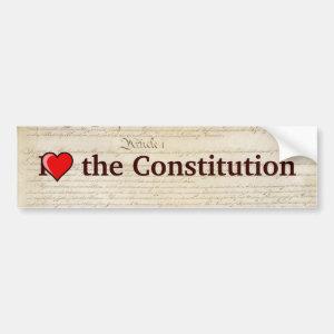 I heart the Constitution Bumper Sticker