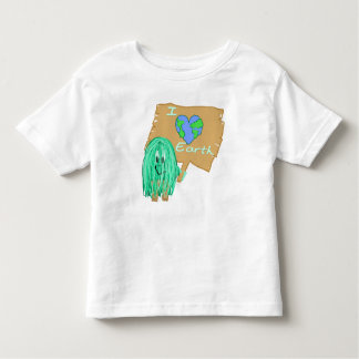 I heart the earth toddler t-shirt