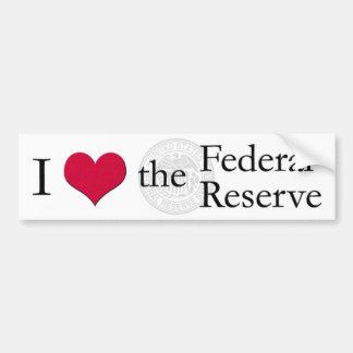 I heart the Federal Reserve Car Bumper Sticker