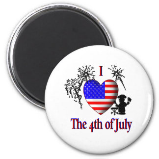 I Heart The Fourth of July Magnet