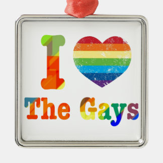 I Heart The Gays Metal Ornament