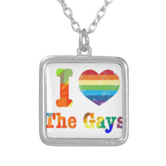 I Heart The Gays Silver Plated Necklace