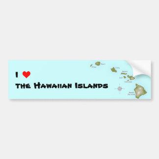 I (heart) the Hawaiian Islands Bumper Sticker