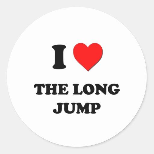 I Heart The Long Jump Round Sticker