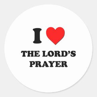 I Heart The Lord S Prayer Round Sticker