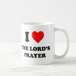 I Heart The Lord'S Prayer Classic White Coffee Mug