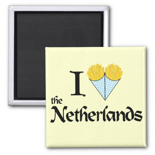 I Heart the Netherlands 2 Inch Square Magnet