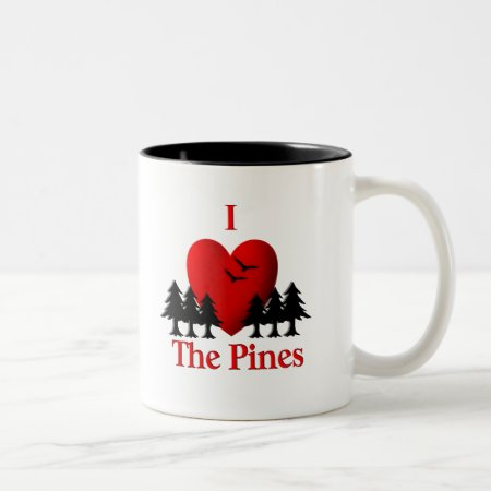 I Heart the Pines Coffee Mugs
