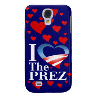 I Heart The Prez (navy) Apple 3G iPhone Case Samsung Galaxy S4 Covers