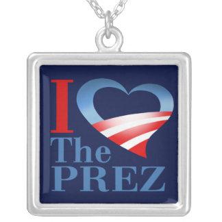 I Heart The Prez Necklace (navy)