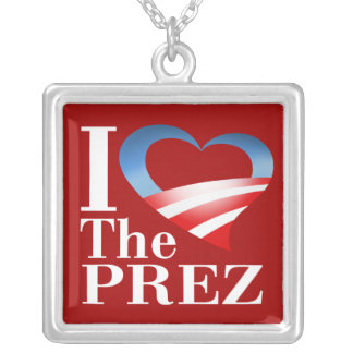 I Heart The Prez Necklace (red)