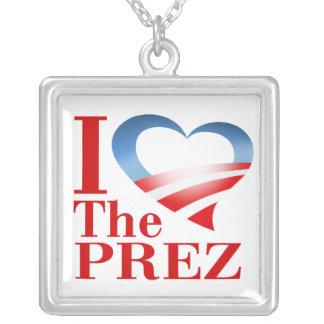 I Heart The Prez Necklace (white)